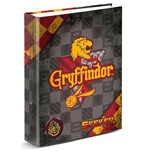 Carpeta Archivador HARRY POTTER Quidditch, Din-A4 4 Anillas 35 mm. (Gryffindor) KARACTERMANIA