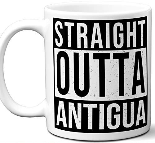 (Antigua Souvenir Gift Coffee Mug. Unique I Love Country Tea Cup Flag Shirt Jersey Map Travel Scarf Tshirt Pin Art Patch Hat Men Women Birthday Mothers Day Fathers Day Christmas.)
