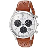 Movado Men's Swiss Quartz Stainless Steel and Leather Casual Watch, Color:Brown (Model: 3650008)