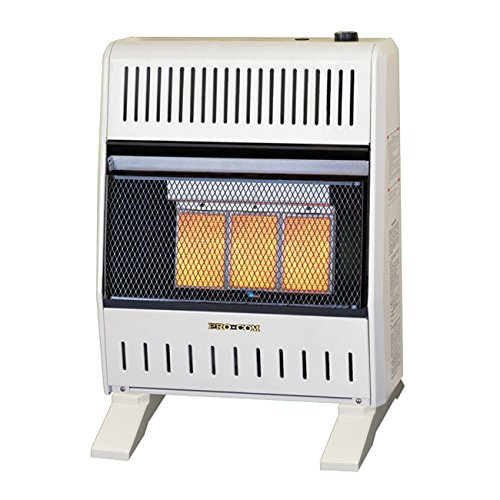 Procom Blower - ProCom MNSD3TPA-BB Dual Natural/Propane Gas Vent-Free Heater, 18,000 BTU, Base and Blower Included