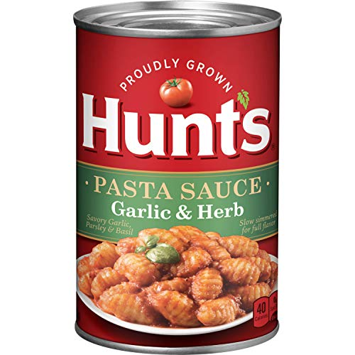 Hunt's Garlic & Herb Pasta Sauce, 24 Oz. (Best Store Bought Marinara Sauce)