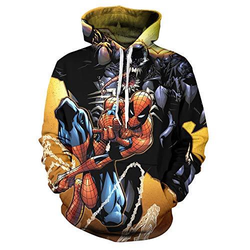 Ligeras Spiderman Capucha Sudaderas Unisex Bolsillos Hd A 4xl 3d Con s Aa1qTS