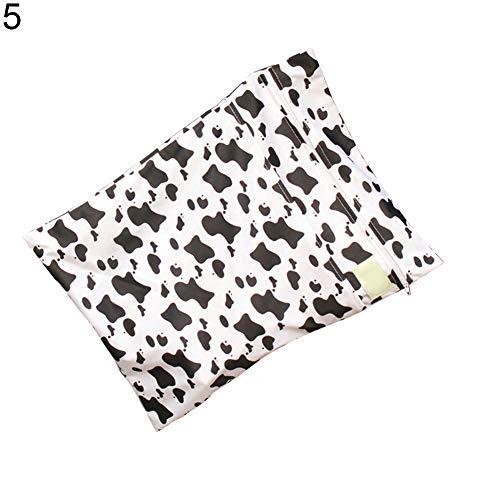 ofvsdhftgj Baby pannolini auto DOT girasole mucca impermeabile con cerniera della porta pannolini 1# 5#