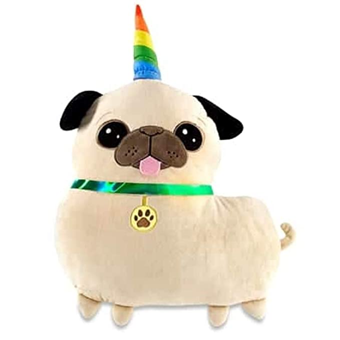 Amazon.com: Top Trenz Inc Pugicorn Pug Puppy Unicorn Emoji ...