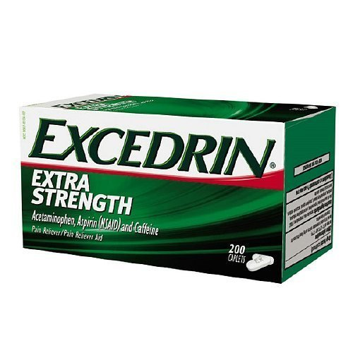 Excedrin Extra Strength Pain Reliever Aid Caplets 200 ea Pack of 2 by Excedrin by Excedrin