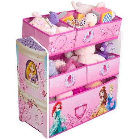 Disney Princess Multi-Bin Toy Organizer, Pink (Cars Multi Bin Toy Organizer compare prices)