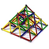 Toys : CMS Magnetics 126 PC Magnetic Building Set - Magnetic Brain Training Set for Kids and Adults