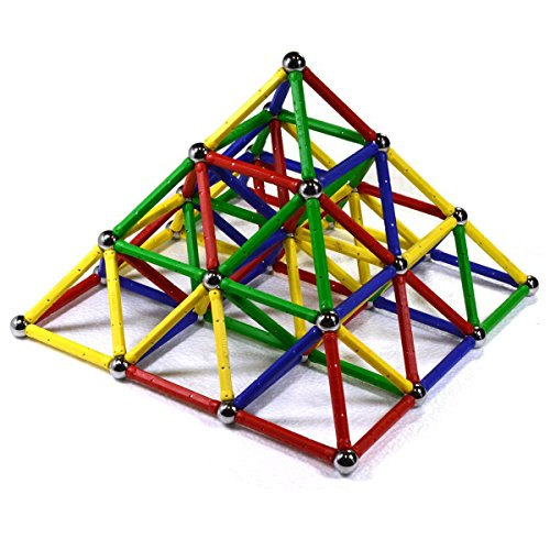 CMS MAGNETICS 156 PC Magnetic Building Sets - Magnetic Brain Toy for Kids and Adults - Magnet Toys for All Ages