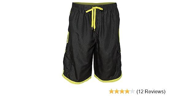 08bd3777fb Amazon.com: Burnside Mens Swim Striped Board Shorts-B9401: Clothing