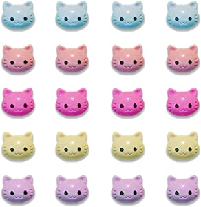 20 Pack Fridge Magnets Mini Cat Multicolor Refrigerator Office Magnets for Calendars Whiteboards Maps Resin Fun Decorative Decoration