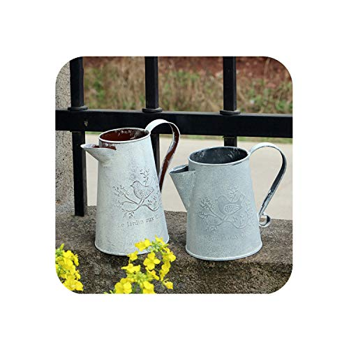 Little-Goldfish vases Vintage Metal Plant Flower Watering Pot Sprinkler Flower Pot Vase Ornament Home Garden Decor Watering Can for Flower Arrangement,L ()