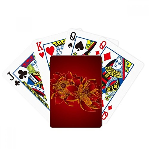 beatChong Red Lotus Flower Lotus Seed Flower Plant Poker Playing Card Tabletop Board Game Gift by beatChong