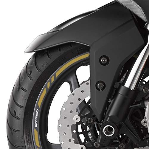 Strisce ruote Kymco AK 550 con logo Striscie argentate - Loghi oro