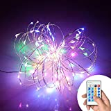 Xking 33ft / 10m 100 Leds Copper Wire String Lights / Christmas, Wedding and Party Decorative Lights / Controllable:flash , Strobe , Fade (Multi-colored)