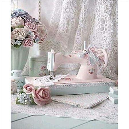 YANZUAN 5D Bricolaje Pintura diamante Maquina de coser Dormitorio ...