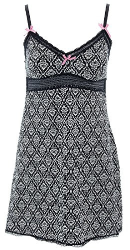 laura-ashley-womens-black-geometric-chemise-m