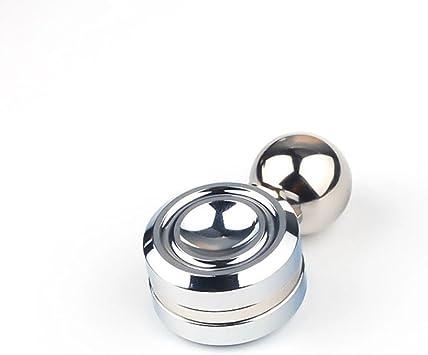 Gemwon Órbita magnética de alta velocidad Fidget Spinner con bola reduce el estrés ADHD ayuda a concentrar la ansiedad de alivio Anti Depresión Juguetes para niños, Adultos (Plata): Amazon.es: Juguetes y juegos