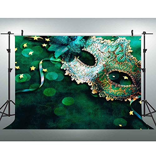 VVM 7x5ft Masked Ball Backdrop Masquerade Banner Prom Theme Birthday Party Photo Shoot Props LXVV733