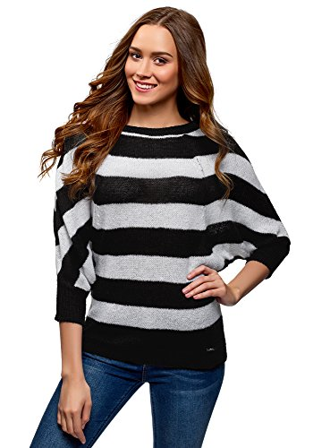 a Mohair Righe Nero Donna Collection Maglione 1229s in oodji T6Rn7Owqq
