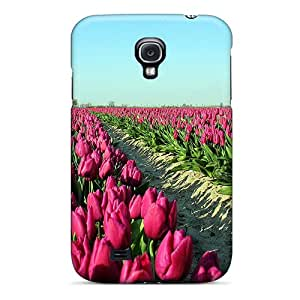 Galaxy S4 Case Cover Tulip Field Case - Eco-friendly Packaging