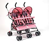 Big Oshi Baby Time Lexington Double Stroller - Pink