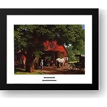 Horse and Buggy Days 24x20 Framed Art Print by Detlefsen, Paul