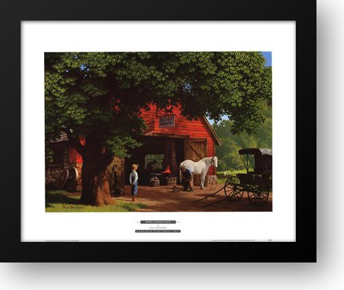 Horse and Buggy Days 24x20 Framed Art Print by Detlefsen, ()
