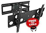 65 inch sharp - Mount-It! Full Motion TV Wall Mount for 16'', 18'', 24'' wood studs, Fits 32