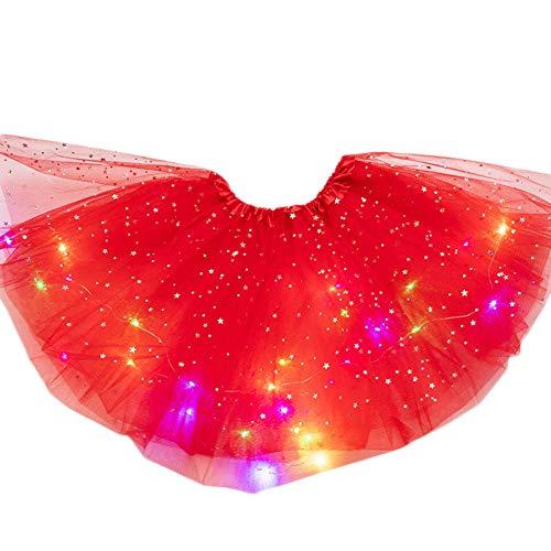 Fanville Mini Tutu rok met LED Light Up tule kostuum Magic Light Princess LED Dancing Rok oplichtend Stage tule Ballet…