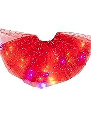 [The Latest in 2020] Tutu Skirt for Girls Magic Light Princess LED Dancing Skirt Luminous Christmas Party Stage Tulle Ballet Children Girl
