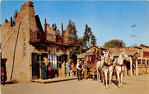 - Stage Stops for the gold shipment, Miner's Bank Knott's Berry Farm, Ghost Town, California, CA, USA Postcard Post Card