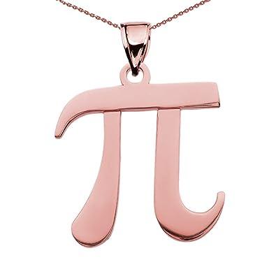 Amazon 14k Gold Pi Symbol Math Teacher Pendant Necklace 16