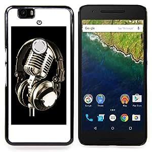 "For Huawei Google Nexus 6P , S-type Micrófono de la vendimia Micrófono"" - Arte & diseño plástico duro Fundas Cover Cubre Hard Case Cover"