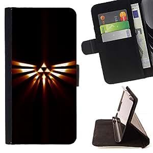 Momo Phone Case / Flip Funda de Cuero Case Cover - Tribal Triángulo Totem;;;;;;;; - Sony Xperia M5