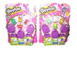 shopkins toys season 2 - Shopkins S2 5 Pack Playset X 2 (10 Shopkins, 10 Shopping Bags)