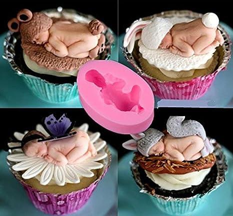 Wa 1Pcs Molde para Pastel de Bebé Molde de Gelatina Hecho a Mano Jabón Herramientas para Hornear 7*5*2.7cm Rosa: Amazon.es: Hogar