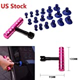 LEAGUE&CO 1set Car Useful Convenient Auto Body Dent Repair Tool Lifter Puller DIY Mini T-bar Pit Removal With 18Pcs Puller Tabs