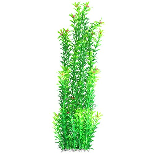 Tacobear Artificial Plastic Plant Green Aquarium Fish Tank Underwater Plant 20 inch Aquatic Plants by Tacobear