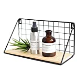 floating shelves ideas Party Bar. Vintage Rustic Wire Metal Storage Rack, Multifunction Balcony Plant Stand/Shlef Flower Pots Holder, Wall Art Home/Office/Coffe Shop Display Decor Decoration (S)