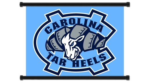 North Carolina Tar Heels NCAA Fabric Wall Scroll Poster (32