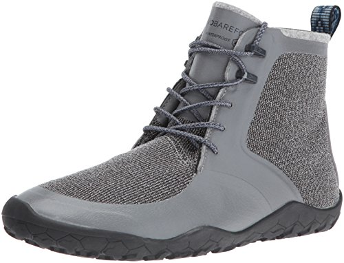 Vivobarefoot Men's Saami Lite M Synth Walking Shoe, Grey, 43 EU/10-10.5 M US