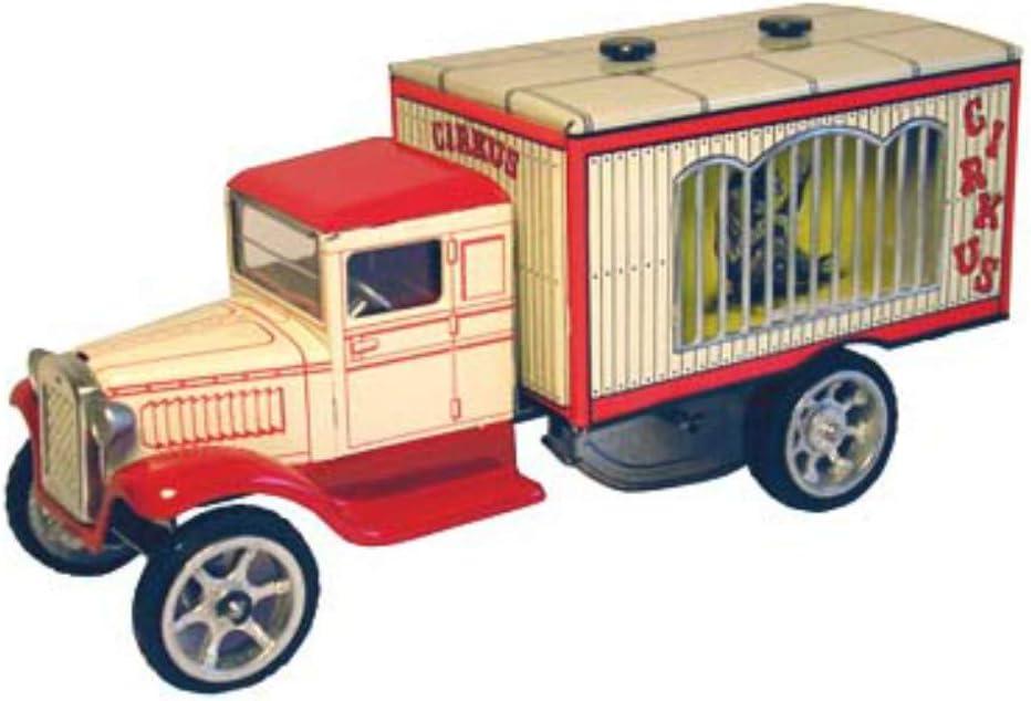 Juguete Decorativo de Hojalata CAMION Circus-Animales Vehículos de Cuerda. Juguetes y Juegos de Colección. Regalos Originales. Decoración Clásica.