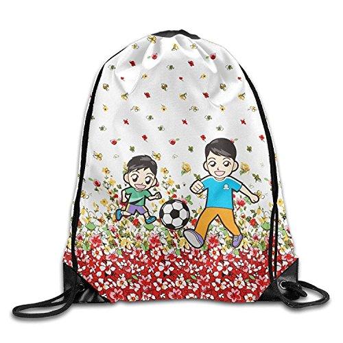 CHJOO Soccer Dad Print Drawstring Backpack Rucksack Shoulder Bags Sports Portable Bag ()