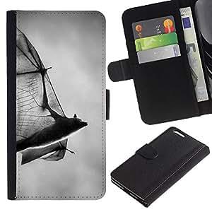 iBinBang / Flip Funda de Cuero Case Cover - De Halloween Negro Blanco Drácula - Apple Iphone 6 PLUS 5.5