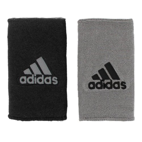 (adidas Interval Large Reversible Wristband, Black/White / Aluminium 2/Black, One Size Fits All)