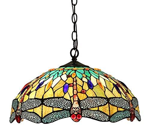 Dragonfly Tiffany Style Pendant Light Fixture - 7