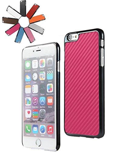 Bralexx 6223Schwarz-6221Pink-Carbon Smartphone Case passend für Apple iPhone 6 Plus 13,9 cm (5,5 Zoll) schwarz/pink