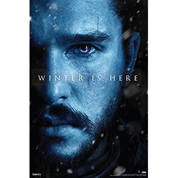 Game of Thrones Season 7 Jon Snow Winter Is Here TV Show Poster 12x18