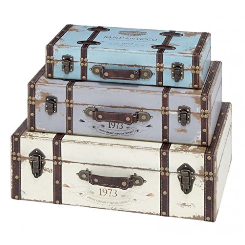 A Nation 93776 Wood Trunk44; Set of 3 by A Nation