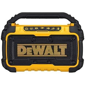 Sylvania SP303-Yellow Heavy Duty Rugged Bluetooth Portable Speaker w// FM Radio